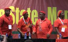 FILE: EFF leaders on the podium following their nominations into the party's top national leadership positions.Picture: Vumani Mkhize/EWN.