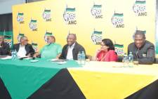 FILE: Members of the ANC's top leadership at the party's special NEC meeting on 29 September 2019 in Pretoria. Picture: @MYANC/Twitter