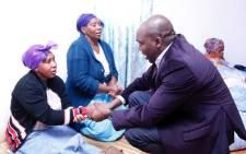 KwaZulu-Natal Community Safety MEC Mxolisi Kaunda visits family of slain cop, Ndabezinhle Zwane in Hammarsdale on 6 June 2017. Picture: Ziyanda Ngcobo/EWN