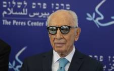 "his file photo taken on 9 May, 2016 shows former Israeli president Shimon Peres during the opening of the ""Mini World Cup for Peace"" football event at the Herzlyia stadium, in the Israeli city of Herzlyia near Tel Aviv. Picture: AFP."