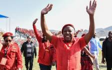 EFF leader Julius Malema at the party's sixth birthday celebration at Kanyamazane Stadium in Mpumalanga on Saturday 27 July 2019. Picture: @EFFSouthAfrica/Twitter