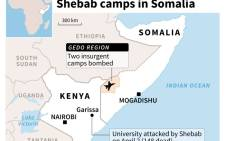 Map locating the region of Gedo in Somalia. Source: AFP.