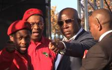 FILE: EFF leader Julius Malema (c) and members of his party. Picture:Vumani Mkhize/EWN
