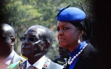 FILE: Zimbabwe's President Robert Mugabe and his wife Grace. Picture: AFP.