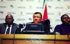 Advocate Denzil Potgieter during a press briefing in Cape Town on 30 June 2014. Picture: Carmel Loggenberg/EWN.