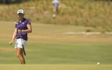 World number one Stacy Lewis in action at the 2014 US Women's Open. Picture: Facebook.com