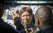 FILE: Basic Education Minister Angie Motshekga talks to the media during Youth Day celebrations at Orlando Stadium in Soweto on 16 June 2016. Picture: Reinart Toerien/EWN.