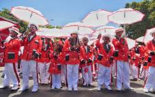 The D6 Hanover Troupe were he first to march at Cape Minstrel Parade on Saturday 2 January 2016. Here, the Members are waiting for the go ahead. Picture: Aletta Harrison/EWN
