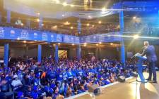 DA leader Mmusi Maimane addresses supporters at the party's May Day rally in Cape Town on 1 May 2019. Picture: @Our_DA/Twitter.