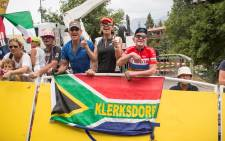 SA Fans cheer for MTN-Qhubeka at the Tour de France. Picture: Thomas Holder/EWN.
