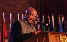 President Jacob Zuma at Africa day Celebration held at University of Pretoria, Mamelodi Campus on 24 May 2015. Picture: GCIS.