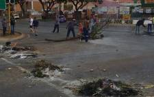 Service delivery protests broke out in the Daspoort area on 9 March 2016. Picture: Barry Bateman/EWN.
