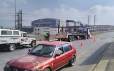 Sanral's Alex van Niekerk says the construction work poses a serious risk to the public. Picture: Supplied.