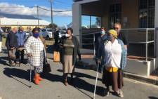 On the first day of the second phase of SA's vaccination programme on 17 May 2021, the elderly queue at the Brooklyn Chest Hospital in the Western Cape. Picture: Graig-Lee Smith/Eyewitness News