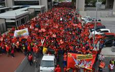 Numsa members in Cape Town take part in a march marking the start of a national strike on 1 July 2014. Picture: EWN.