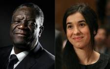 This combination of file pictures shows Congolese gynaecologist Denis Mukwege (October 2016 in Paris) and Nadia Murad, public advocate for the Yazidi community in Iraq and survivor of sexual enslavement by the Islamic State jihadists (June 2016 in Washington, DC). Picture: AFP