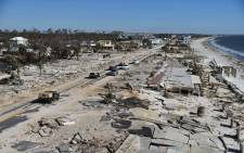 FILE: View of the damaged caused by Hurricane Michael in Mexico Beach, Florida, on October 12, 2018. Picture: AFP.