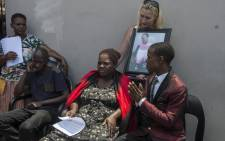 "Nontombi Gwam, the mother of 3-year-old Latoya Gwam, who passed away at Pastor Paseka ""Mboro"" Motsoeneng's church gives a press conference to media at her home in Daveyton. Picture: Ihsaan Haffejee/EWN"