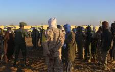 FILE: Former rebels, predominantly Tuareg, waiting in a military camp in Gao, before participating in joint patrols with the Malian army and pro-government militias. Picture: AFP
