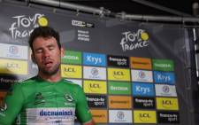 Mark Cavendish after winning a fourth stage of the 2021 Tour de France and equalling Eddy Merckx's 46-year-old record of Tour de France stage wins on 9 July 2021. Picture: @deceuninck_qst/Twitter