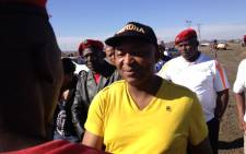FILE: Businessman Kenny Kunene and members of the EFF arrive in Marikana ahead of the anniversary of the shooting in which 34 miners were killed. Picture: Christa van der Walt/EWN.