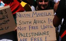 Palestine Solidarity Commitee protesters . Picture: Taurai Maduna/Eyewitness News