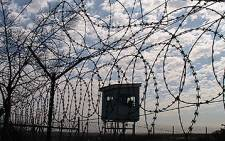 Security fence at a prison. Picture: Eyewitness News.