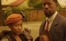 Phuthi Nakene as Matilda, Atandwa Kani as Philemon and their 'guest' in 'The Suit'. Picture: Facebook.