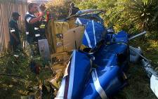Helicopter crash in Midrand, on 27 May 2012. Picture: EWN