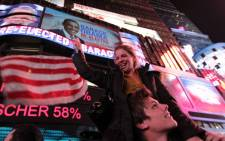 Supporters celebrate Barack Obama's win in the US presidential elections. Picture: AFP.