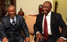 FILE: Deputy President Cyril Ramaphosa in his capacity as the SADC Facilitator meeting with Prime Minister of Lesotho Tom Thabane at Moshoeshoe 1 International Airport in Lesotho in November 2014. Picture: GCIS.