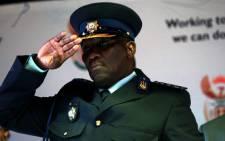 Suspended National Police Commissioner Bheki Cele. Picture: Werner Beukes/SAPA