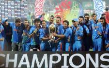 The Indian team celebrates winning the 2011 Cricket World Cup. Picture: Reuters