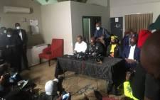 Former president Jacob Zuma gives a public address from his home in Nkandla on 4 July, 2021. Picture: Nkosikhona Duma/EWN.