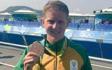 FILE: South Africa's triathlete Henri Schoeman wins a bronze medal at the 2016 Rio Olympics on 18 August 2016. Picture: EWN