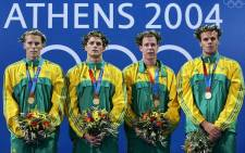 """""""Roland Schoeman, Lyndon Ferns, Darian Townsend and Ryk Neethling. Picture: Olympics.org."""