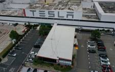 FILE: An aerial view of the Tesla Fremont Factory on 12 May 2020 in Fremont, California. Picture: Justin Sullivan/Getty Images/AFP