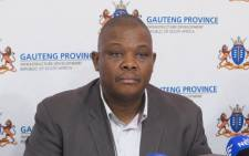 FILE: Acting Gauteng Health MEC Jacob Mamabolo. Picture: EWN.