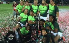 FILE: The Springboks Sevens have won the Dubai leg of the Sevens Series, beating Australia 33-7. Picture: @Blitzboks via Twitter