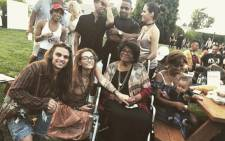 Paris Jackson shared this picture of her grandmother, the mother of the late Michael Jackson, Katherine Jackson, along with band mates on social media after a performance on  12 August 2018. Picture: @parisjackson/Twitter