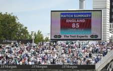 England's first innings total displayed on the scoreboard on day one of the four-day Test against Ireland at Lord's on 24 July 2019. Picture: @Irelandcricket/Twitter