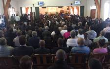 Hundreds of people have crammed into a Kuilsriver church to say their last goodbyes to a slain mother of two on 1 April 2016. Picture: Monique Mortlock/EWN
