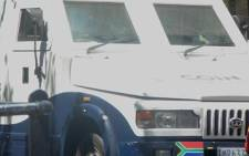 It is understood a group of armed suspects tried to rob a security van in Monte Vista.