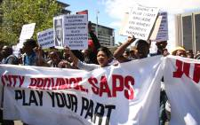 Marikana residents took to the streets of Cape Town,  marching for better policing and improved service delivery. Photo: Bertram Malgas/EWN.