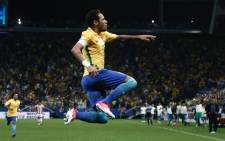 Brazil's Neymar celebrates a goal against Paraguay during their 2018 World Cup qualifier match. Picture: Twitter/@FIFAWorldCup.