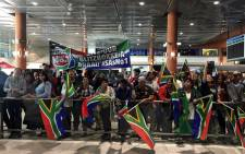 The Blitzboks are welcomed home after winning the World Series in London on 23 May 2017. Picture: Carl Lewis/EWN