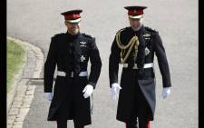 FILE: Britain's Prince Harry (L) arrives with his best man Prince William at St George's Chapel, Windsor Castle, in Windsor, on 19 May 2018 for his wedding ceremony to marry US actress Meghan Markle. Picture: AFP.