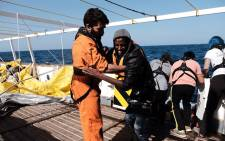 Spanish NGO Proactiva Open Arms rescued 93 people from an overcrowded rubber boat off Libya. Picture: Proactiva Open Arms/Facebook.