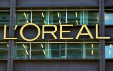FILE: The logo of French group L'Oreal, the world's largest cosmetics maker, at its headquarters in Clichy, near Paris. Picture: AFP