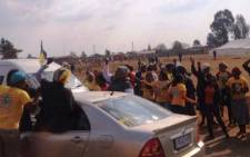 The ANC conducts a motorcade through the streets of Bekkersdal on 6 May 2014. Picture: Govan Whittles/EWN.